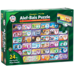 "Alef Bais 24 Pc. floor puzzle - LOSHON-KODESH / ENGLISH captions with pictures (24"" x 36"") P-ENG-LK"