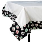 Black Mah Jongg Tablecloth 253MJ
