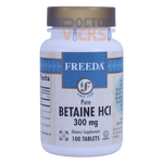 Freeda Vitamins - Betaine HCl 300 mg - 100 Tablets FV-4034-01
