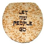 Let My People Go Toilet Lid Cover Silk-Screened 687PS