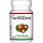 Maxi Health - Chewable Nutralizer - Kosher Digestive & Acid Reflux Formula - Tropical Flavor - 90 Chewables MH-3037-01