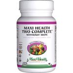 Maxi Health - Maxi Health Two Complete No Iron - Kosher Multivitamin & Mineral - 60 Capsules MH-3086-01