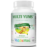 Maxi Health - KiddieMax - Multi Yums - Kosher Multivitamin & Mineral for Children - Fruit Punch Flavor - 180 Chewables MH-3092-04