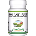 Maxi Health - Maxi Anti-Flame - Kosher Curcumin, Boswellia, Bromelain & MSM - 90 Capsules MH-3142-02