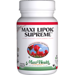 Maxi Health - Maxi Lipoic Supreme - Kosher High Blood Sugar Formula - 60 Capsules MH-3143-01