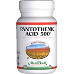 Maxi Health - Pantothenic Acid 500 mg - 100 Tablets MH-3174-01