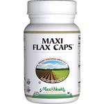 Maxi Health - Maxi Flax Caps - Kosher Flaxseed Oil 1400 mg - 90 Liquid Capsules MH-3216-01