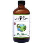 Maxi Health - Liquid Multi-Vite - Kosher Multivitamin & Mineral - Fruit Punch Flavor - 16 fl oz MH-3236-01