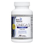 Nutri Supreme - Omega-3 Premium Fish Oil - Maximum Strength - 180 Softgels NS-6049-02