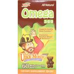 Uncle Moishy Vitamins - Omega-3-6-9 - Milk Chocolate Flavor - 60 Chocolate Bears UM-7009-01