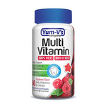 Yum-V's Complete - Kosher Multi-Vitamin for Adults - Raspberry Flavor - 60 Jellies YV-7015-01