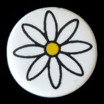 Ceramic Bead: Flower 1144FL