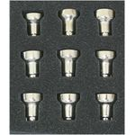 Oil Cups, Set of 9 1209Oil