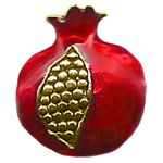 Larger Horizontal Pomegranate Bead, Gold 14614HPGHoriz