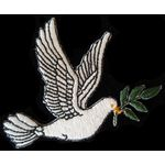 Jewish Applique: Dove with olive branch, iron on 17-2022