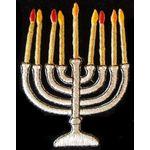 Jewish Applique: Menorah with candles 17-2064