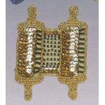 Jewish Applique: Torah, gold 1705