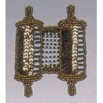 Jewish Applique: Torah, copper 1706