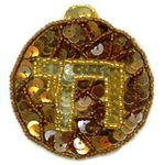 Jewish Applique: Chai, Copper 1710