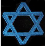 Blue Star of David Applique, iron on 178036SM