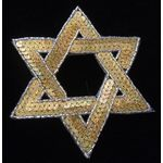 Applique: Gold Sequined Star of David 17A10786G