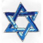 Applique: Royal Blue Sequinned Star of David  17A10786RB
