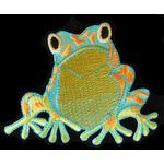 Jewish Applique: Passover Colorful Frog Iron On 17A11687
