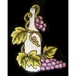 Jewish Applique: Wine Bottle with Grapes, Iron On 17A16677