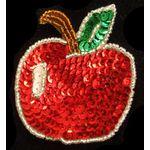 Jewish Applique: Sequinned Apple Sew On 17SM632M