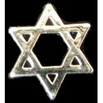 Silver Colored Craft Stars of David, set of 3 2115SV
