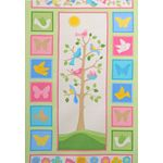 Tree of  Life Flannel Fabric: Tree of Life Panel, pastel colors 6738PS