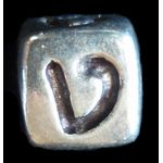 Sterling Silver Hebrew Beads in Bulk, liquidation price PB1107BULK
