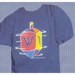 Dreidel T Shirt, Blue, Adult Small, last one PW400T-AS