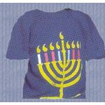 Blue Hanukkiah T Shirt, Adult Small PW401T-AS