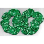Hair Accessories: Set of 2 Green Scrunchies with Stars of David RH774Green