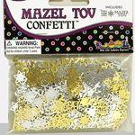 Confetti: Mazel Tov in Hebrew & English, Gold & Silver 1074GS
