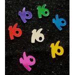 Confetti: Sweet 16, Multi Colored Numbers  1075MNum