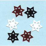 Confetti: Stars of David in Red, Black & White 1077