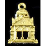 Temple Charm: Temple, gold 1311G
