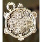 Passover Charm: Miriam's Tambourine, pewter 1316P