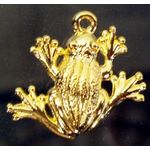 Charm: Plague #2 Frog, gold 1318G