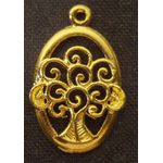 Charm: Tree of Life in Oval, gold 1327G