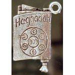 Charm: Passover Hagadah, pewter 1348P