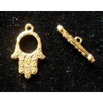 Toggle Clasp:  Hamsa, gold 1385GHam