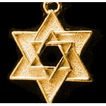Star of David Charm: Gold Concentric Stars 1401G