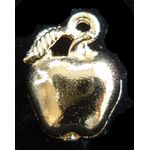 Jewish New Year Charm: Small Apple, gold 1406G