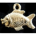 Charm: Gefilte Fish, gold 1407G