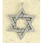 Sterling Silver Sta of David Charm/Pendantr: The Wall 1433