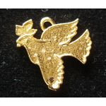 Dove with Olive Leaf, gold 143397G
