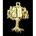 Charm: Tree with 10 Commandments, gold 144969G